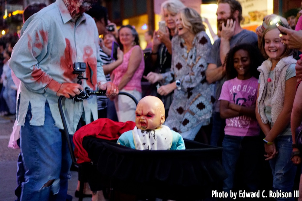 Scary baby prop at Annual Zombie Walk