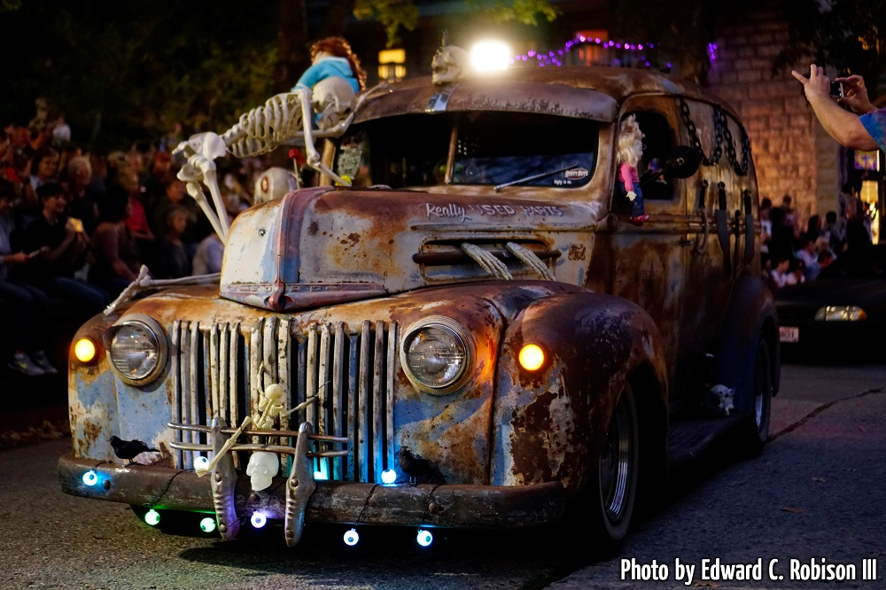 Grim rides in the Zombie Crawl in Eureka Springs