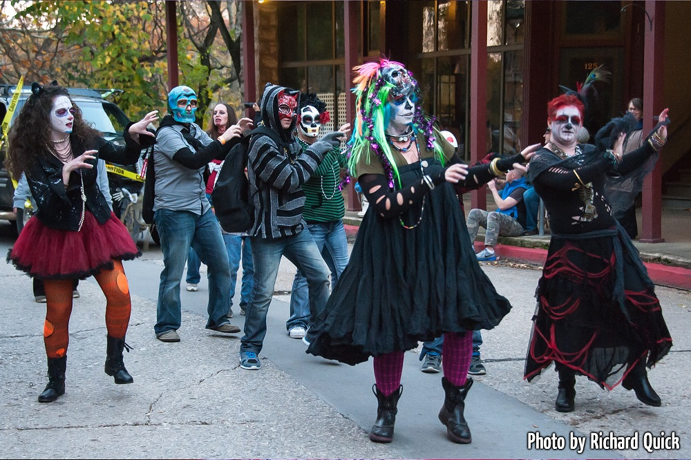 Ghoulish dancers in Eureka Springs Zombie Parade