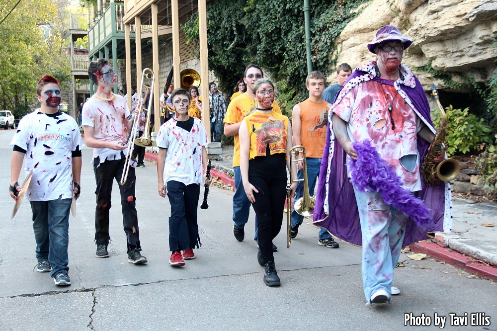 Undead Marching Band Getting Ready for parade