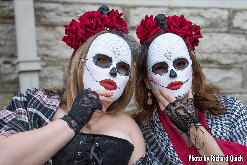 Sugar skull makeup at the Zombie Crawl.